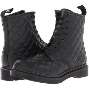 Dr Marten Black Quilted Boots